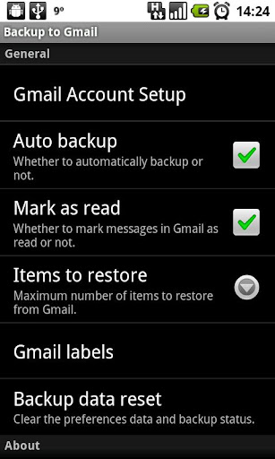 Backup to Gmail v0.4.6