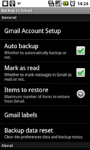 Backup to Gmail Screenshot 2