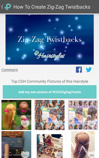 Cute Girls Hairstyles Screenshot
