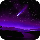 Night sky meteors LWallpaper