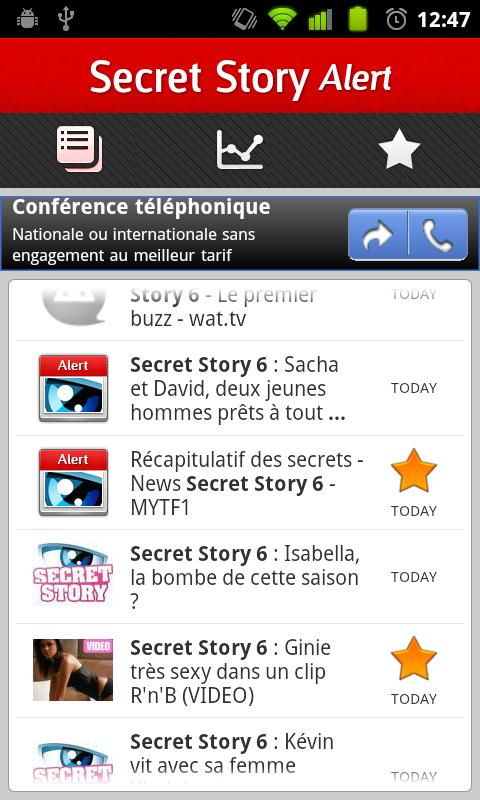 Secret Story 6 Alert - screenshot