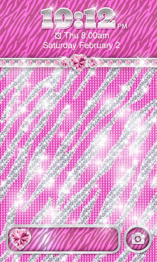 ☀Bling☀Theme Pink Zebra Locker