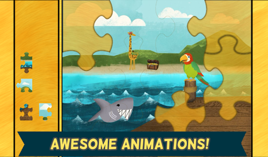 Pirate Preschool Puzzle Game- screenshot thumbnail