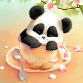 Sleepy Panda Wallpaper