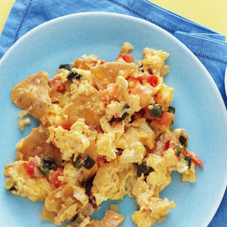 Corn-Tortilla and Egg Scramble