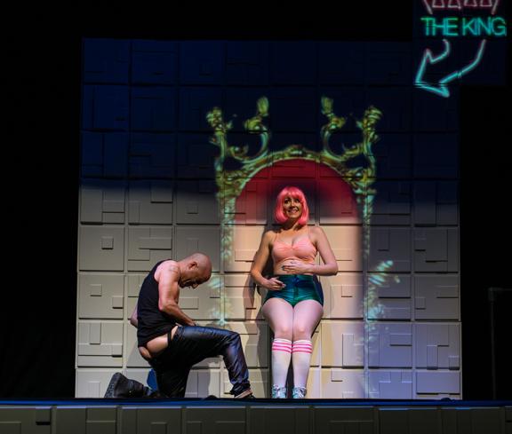 <p> Neezar as The King and Alex Gullason as the CoolLine XL3 in <em>Broken Sex Doll</em>. Scott Munn photo.</p>