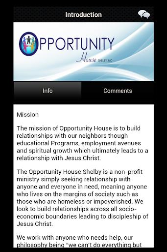 玩免費商業APP|下載Opportunity House Shelby NC app不用錢|硬是要APP