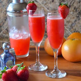 Strawberry Grapefruit Mimosas.