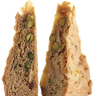 Pear, Pistachio, and Ginger Blondies.