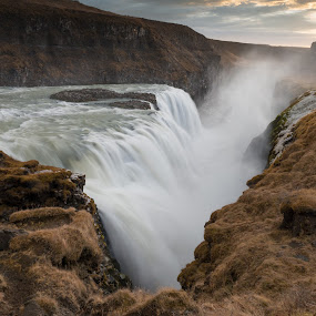 Gullfoss by Phil Castagneri - Landscapes Waterscapes ( iceland, gullfoss )