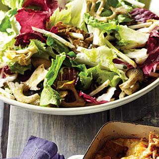 Mushroom, Chicory, and Celery-Root Salad