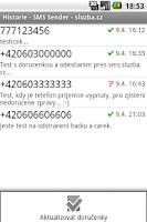 Screenshot of SMS Sender - sluzba.cz