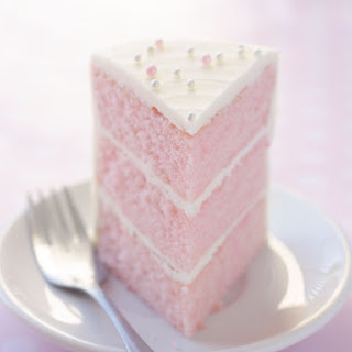 Pink Almond Party Cake.