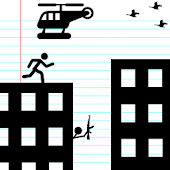 Stickman Rooftop Run