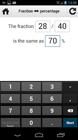 Percentage Calculator v1 PRO Screenshot