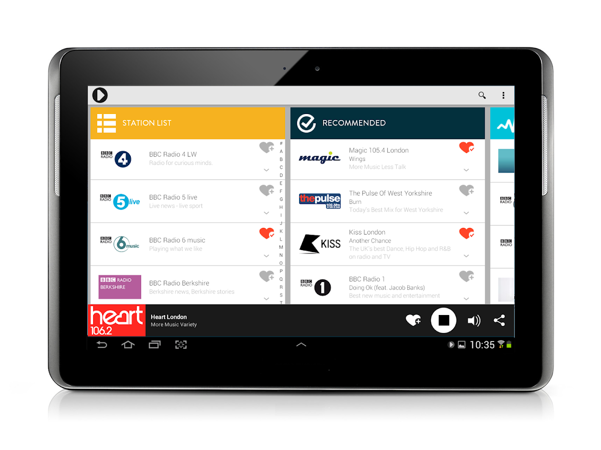 Radioplayer Tablet :: UK Radio - screenshot
