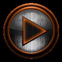 Poweramp skin STEEL I. ORANGE icon