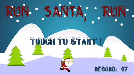 Run santa run Christmas game