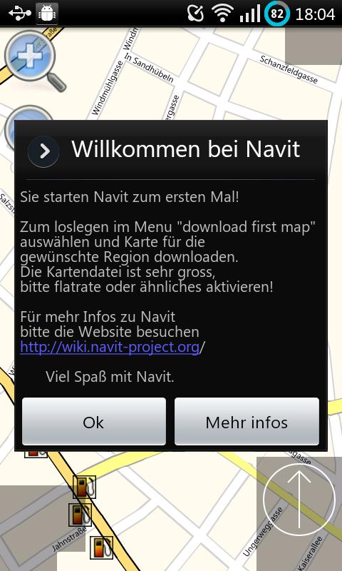 Navit für Android – Screenshot