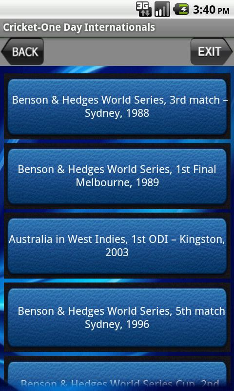 Cricket-One Day Internationals- screenshot