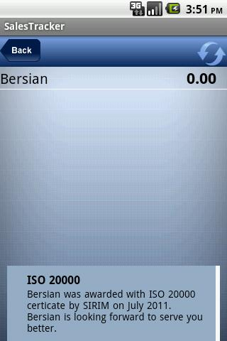 Bersian Sales Tracker - screenshot