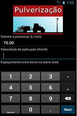 Cálculo de Pulverização - screenshot