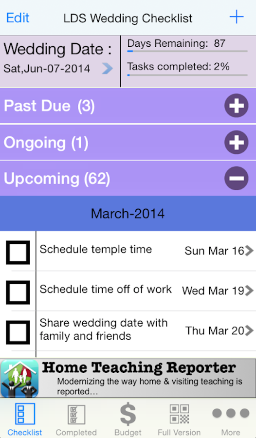 Lds wedding checklist android apps on google play lds wedding checklist screenshot junglespirit Choice Image