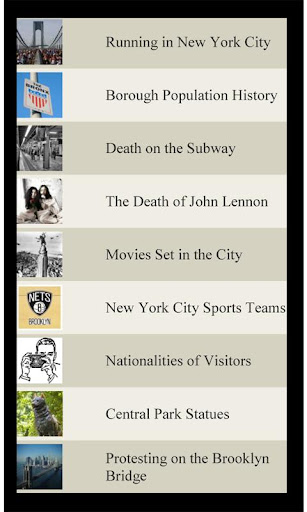 U.S. Travel List NEW YORK CITY