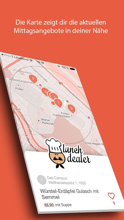 Lunchdealer- screenshot