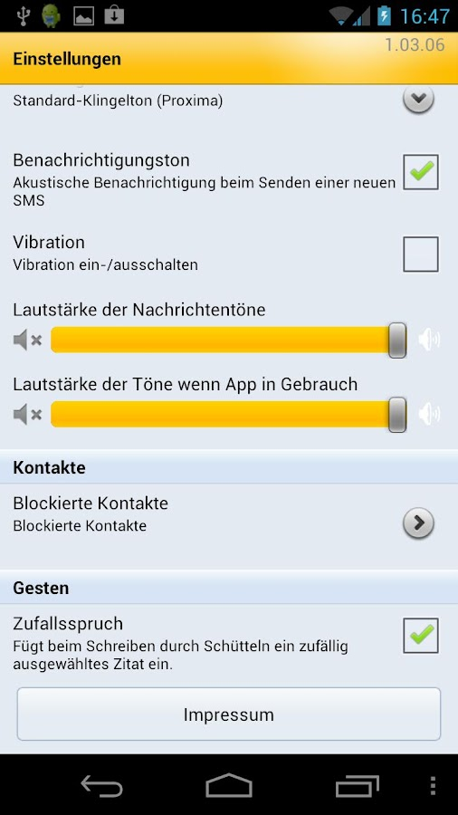 WEB.DE SMS- screenshot