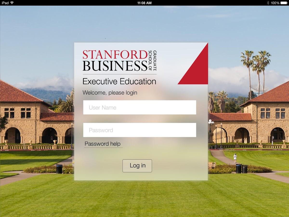 Stanford ExEd - screenshot