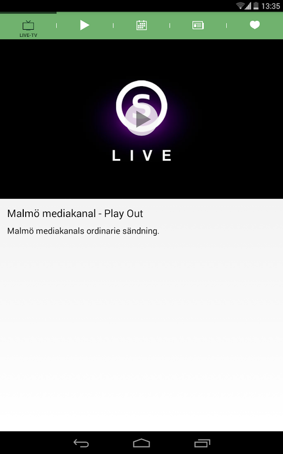 Malmö Mediakanal Play- screenshot