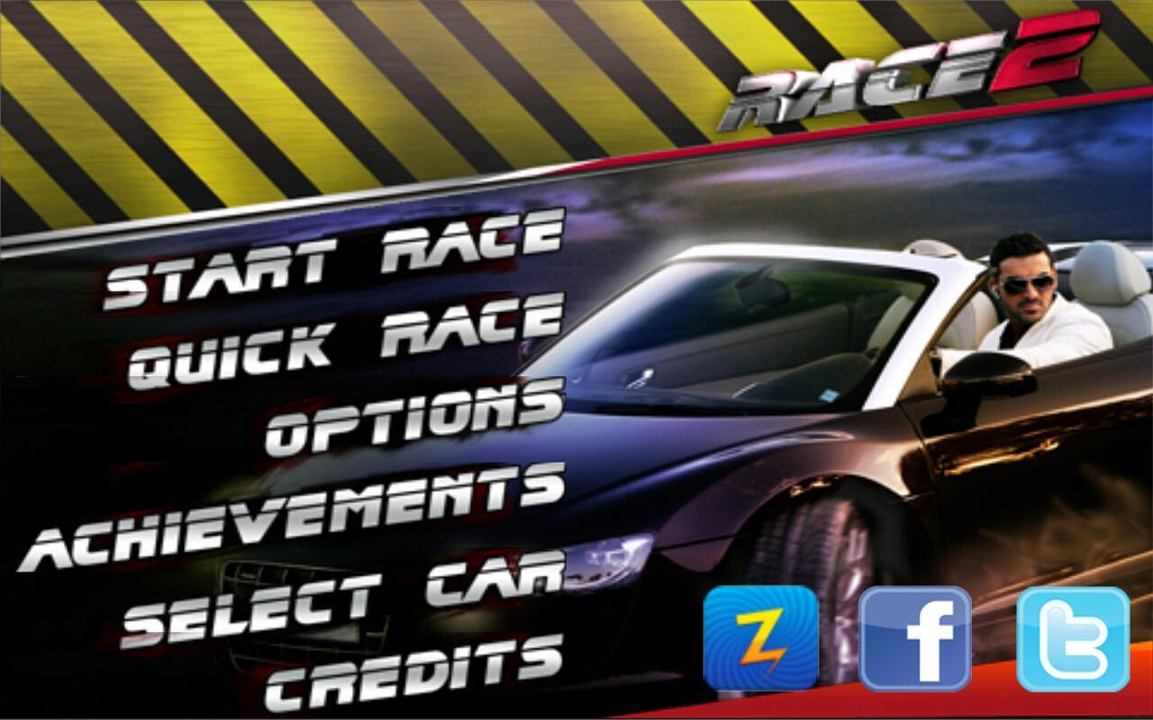 Race 2 Free - screenshot Android mobile এর জন্য নিয়ে এলাম Race 2 Movie Games