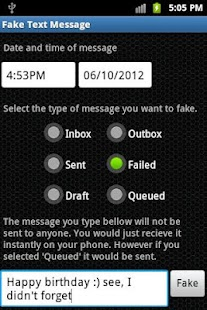 Fake Text Message - screenshot thumbnail