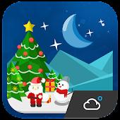 Christmas Theme Weather Widget