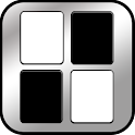 Piano Blitz Black & White Tile icon