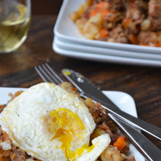 Crock Pot Beef and Bacon Hash.