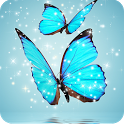 Glitter Butterflies Animated icon