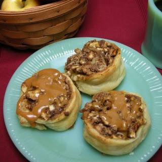Caramel Apple Puff Pastry Pinwheels