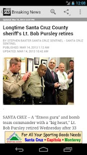 Santa Cruz Sentinel - screenshot thumbnail