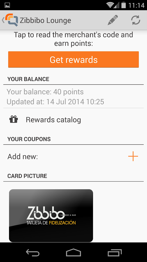 Quomai, loyalty & reward cards - screenshot