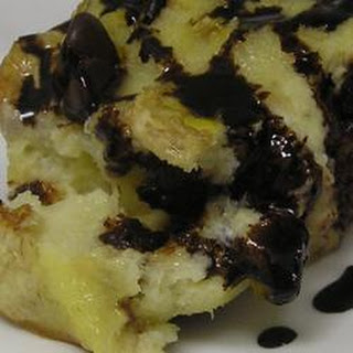 Banana and Chocolate Bread Pudding.