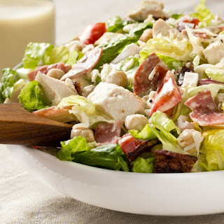 Italian Chopped Salad with Creamy Garlic Vinaigrette.