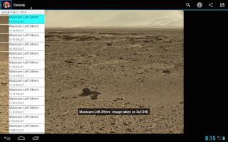 Screenshot of Mars Images