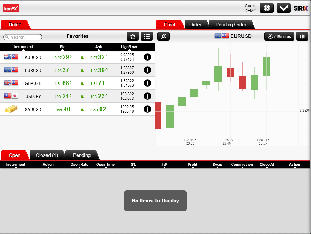 IronFX Social Trader - screenshot