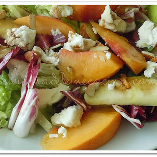 Peach and Apple Salad.