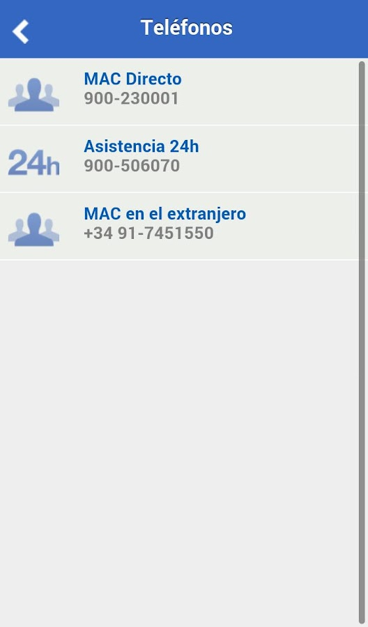 MAC Mutua Accidentes Canarias- screenshot