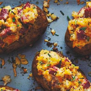 Double-Baked Corned Beef Potatoes.