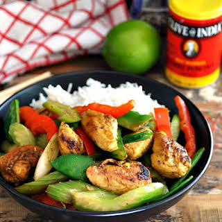 Honey, Lime & Curry Chicken Stir Fry.