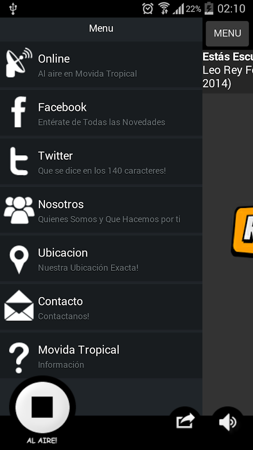 Movida Tropical- screenshot